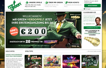 Mr Green Casino ausprobieren
